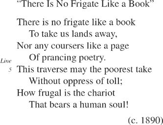 there is no frigate like a book